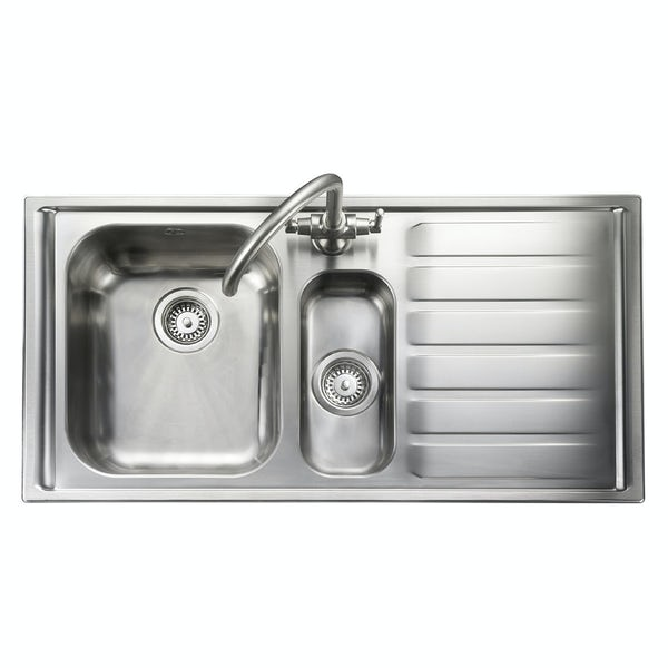 Rangemaster Manhattan 1.5 bowl right handed kitchen sink with waste kit