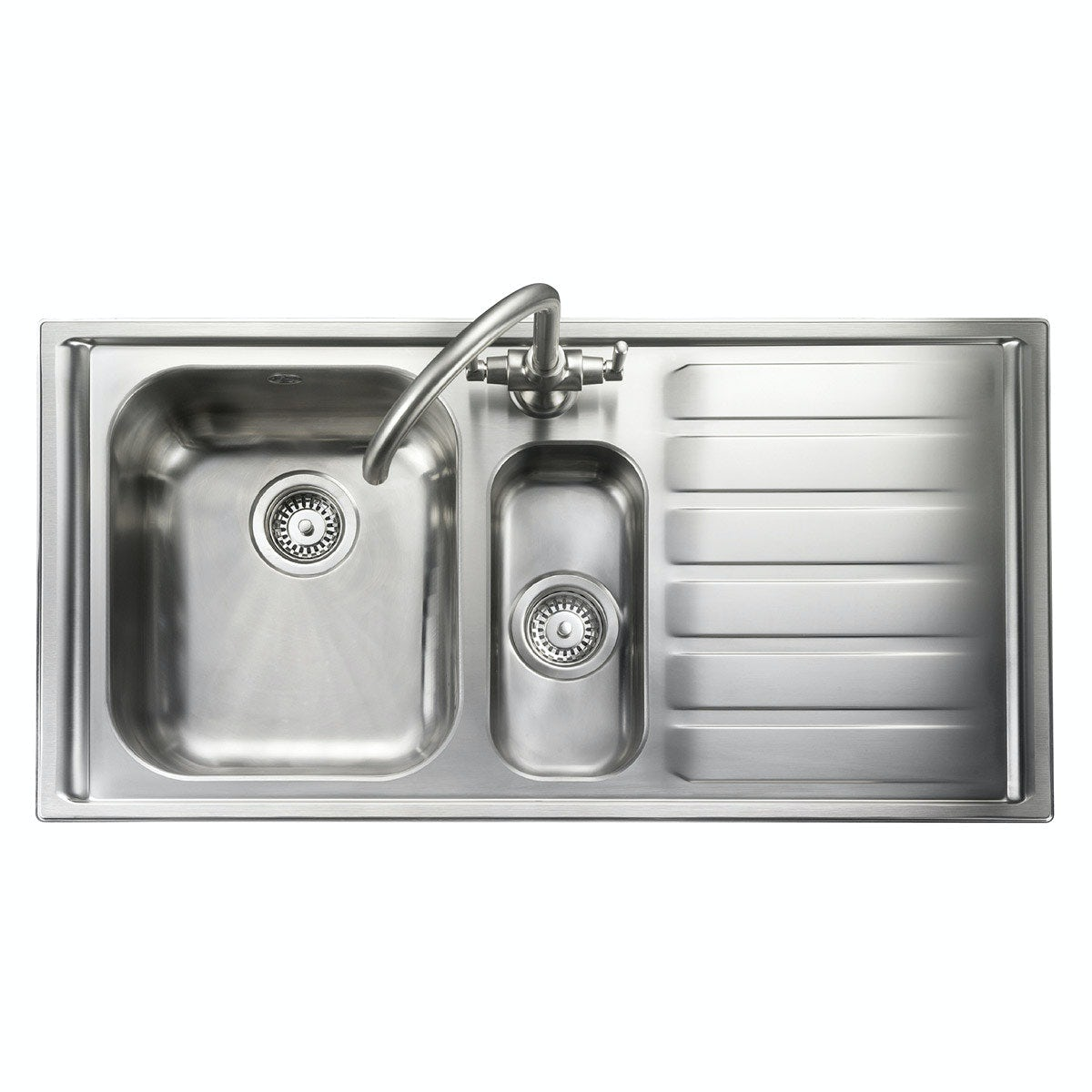Kitchen Sink Waste Kit: Rangemaster Manhattan 1.5 Bowl Right Handed Kitchen Sink