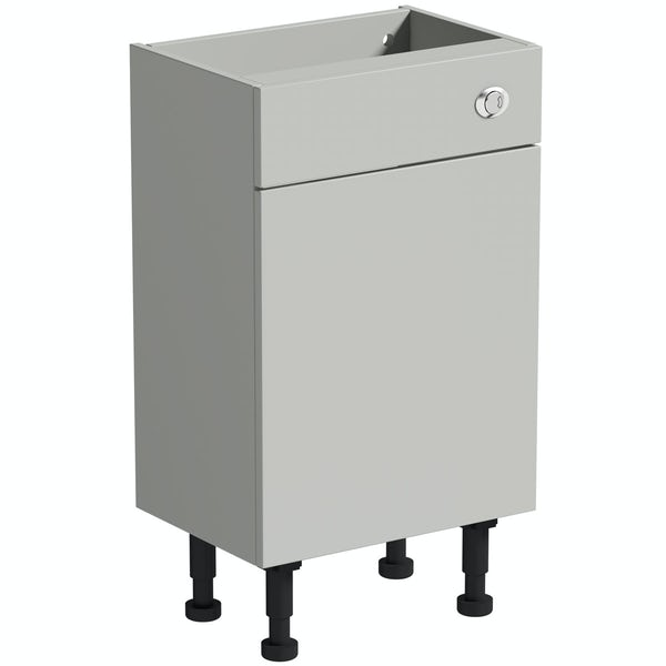 Reeves Wyatt light grey back to wall toilet unit