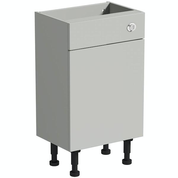 Reeves Wyatt light grey back to wall toilet unit