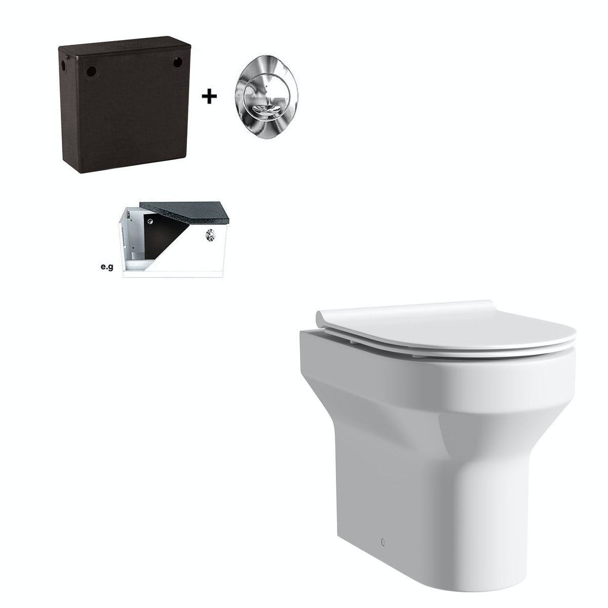Orchard Wharfe Back To Wall Toilet With Soft Close Slim