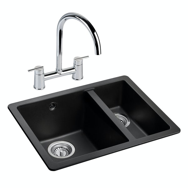 Rangemaster Paragon igneous 1.5 bowl undermount right handed ash kitchen sink