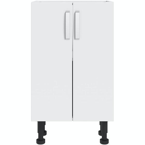 Mode Nouvel gloss white floor cabinet 500mm
