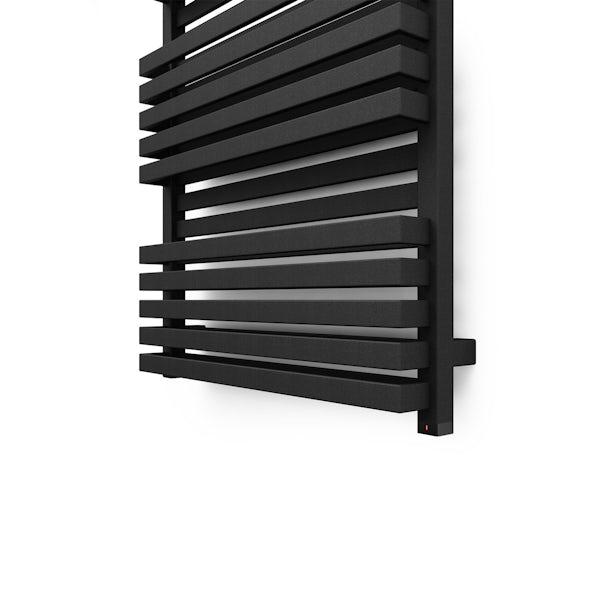Terma Quadrus Bold ONE metallic black electric towel rail