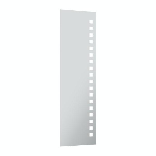 Radiant full length rectangular LED mirror