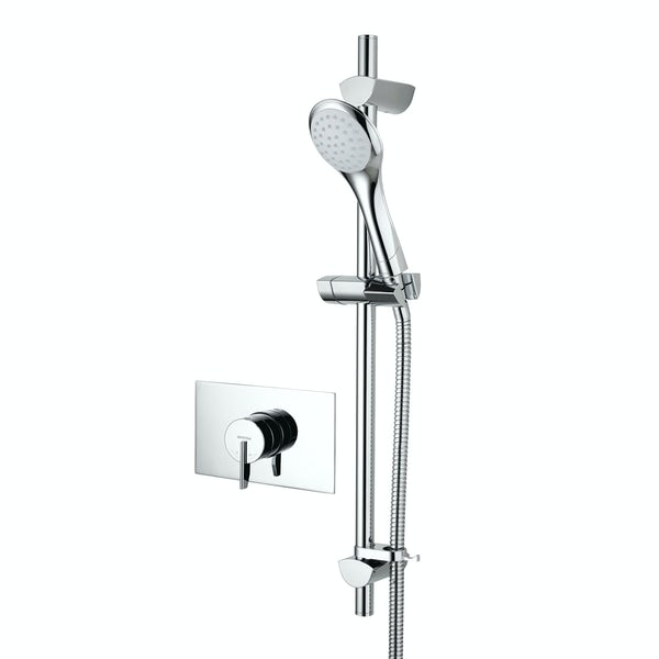 Bristan Sonique 2 concealed thermostatic shower valve with slider rail kit