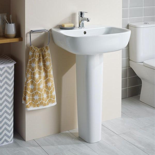 Ideal Standard Studio Echo 1 tap hole full pedestal basin 550mm