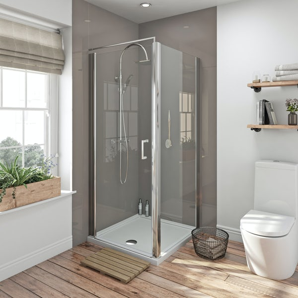 Zenolite plus fossil acrylic shower wall panel 2440 x 1000
