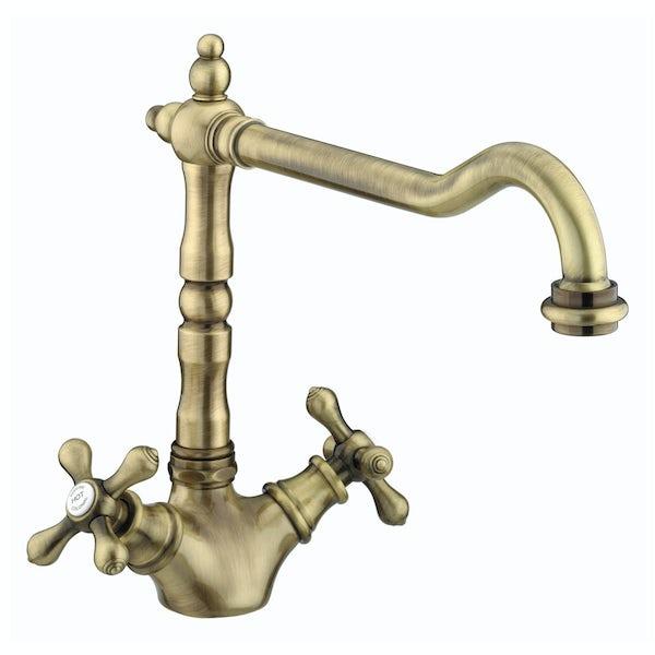 Bristan Colonial antique bronze easyfit kitchen tap