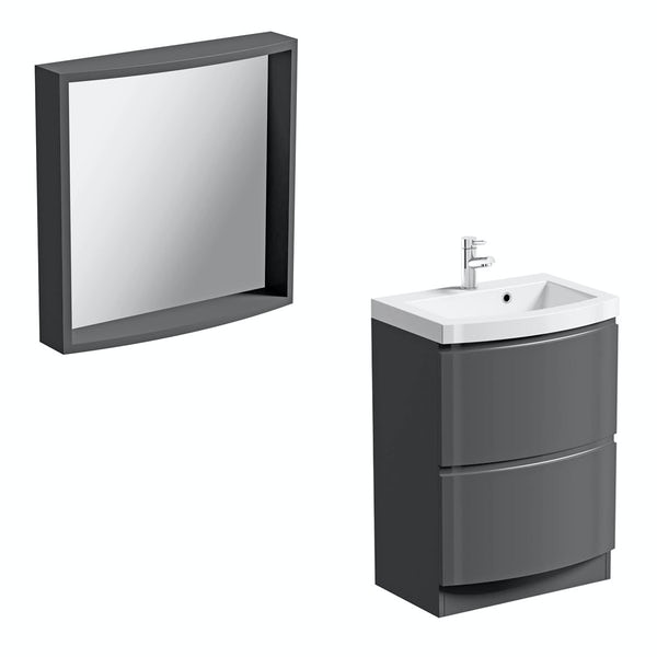 Harrison slate vanity unit and mirror offer