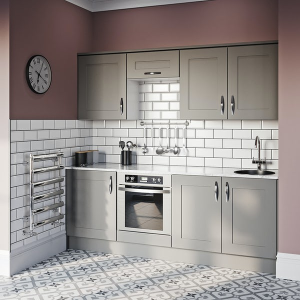 Schon New England light grey shaker 600mm built in oven housing