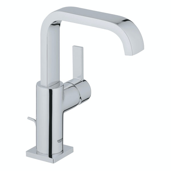 Grohe Allure L-size basin mixer tap with pop up waste