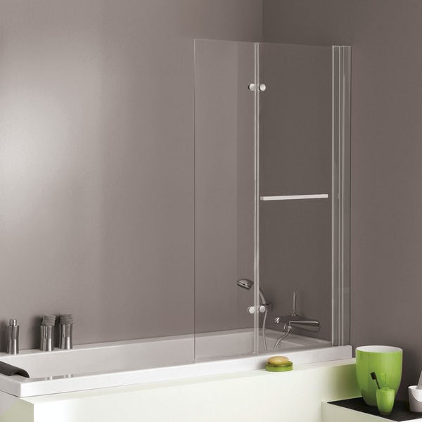 Jacuzzi the Essentials double hinged shower bath screen