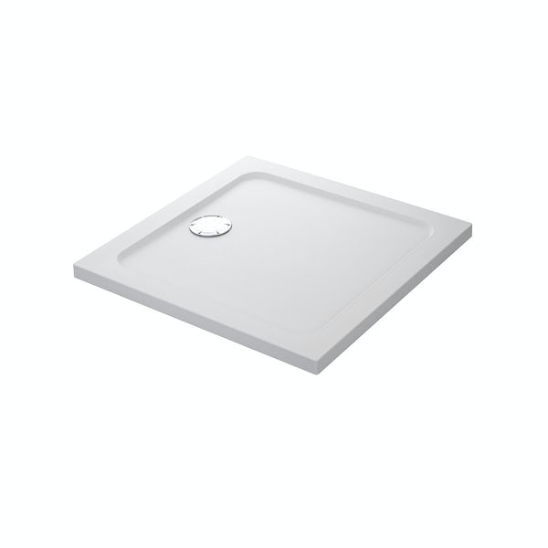 Mira Flight Safe low level anti-slip square shower tray