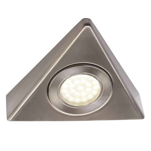 Forum Zia 1.5w warm white LED satin nickel under cabinet light