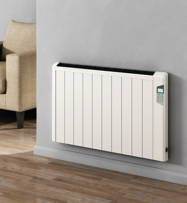 Reina Arlec white aluminium electric designer radiator