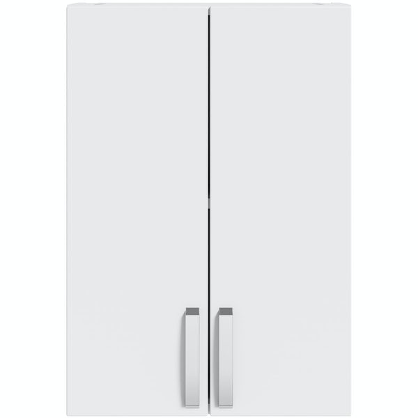 Mode Nouvel gloss white wall cabinet 500mm