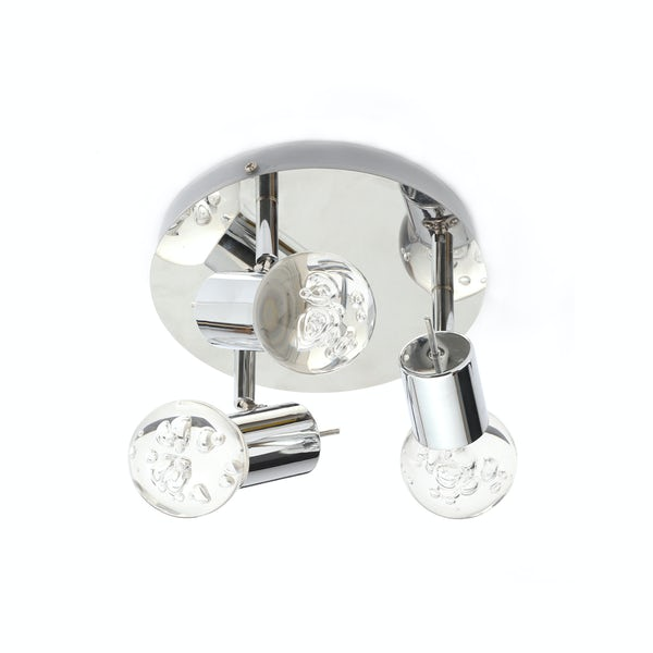 Forum Theia bubble effect round 3 light bathroom ceiling spotlight