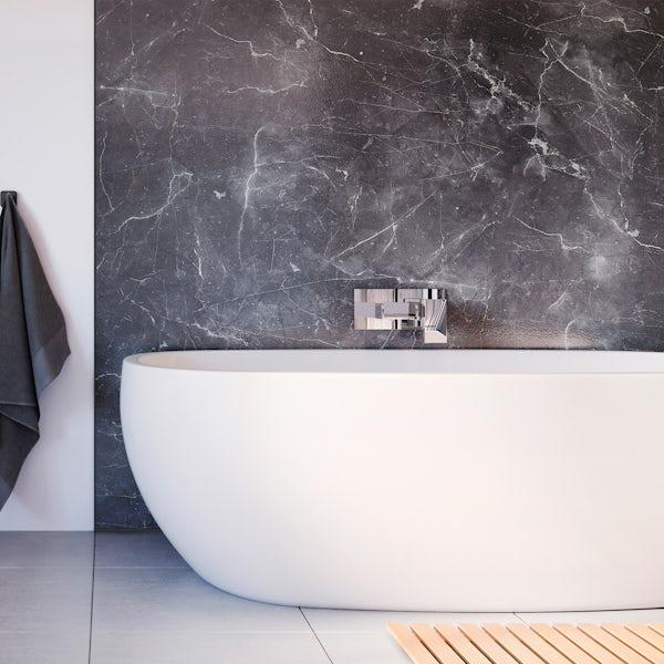 Showerwall Grigio Marble waterproof shower wall panel