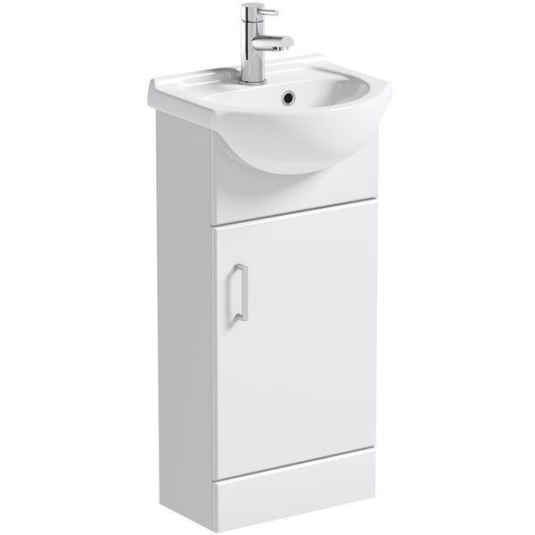 Orchard Eden white vanity unit and basin 410mm