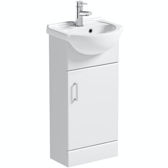 Orchard Eden white cloakroom floorstanding vanity unit and ceramic basin 410mm