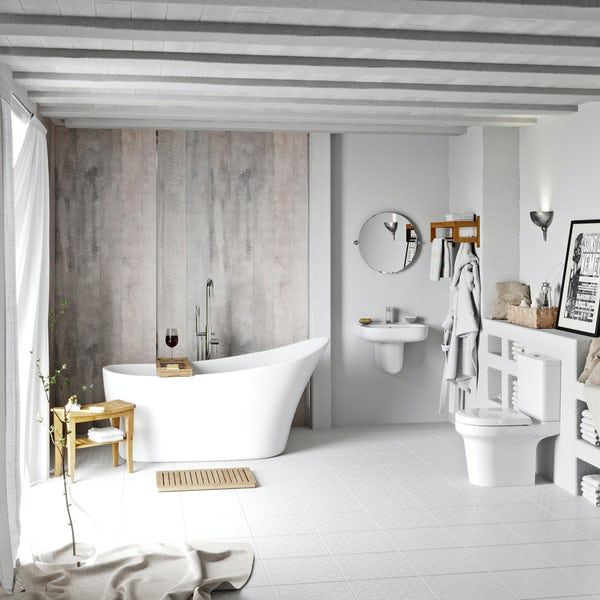 Mode Burton freestanding bath suite
