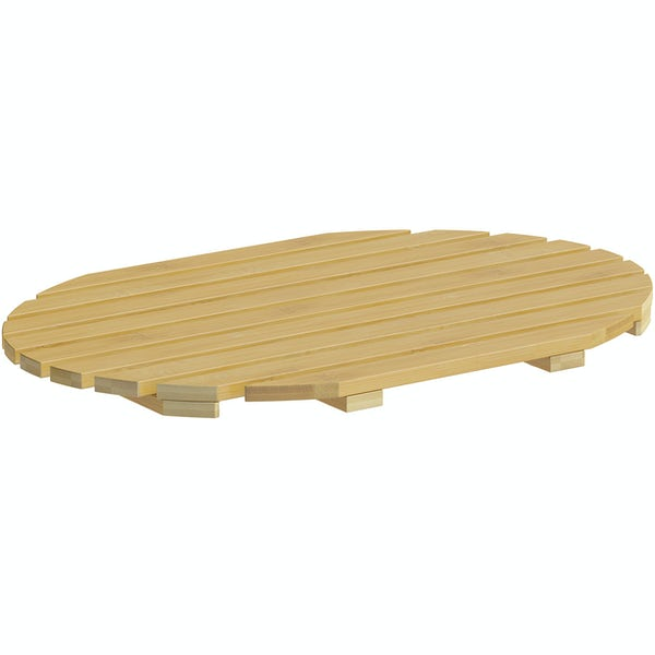 Accents bamboo oval mat