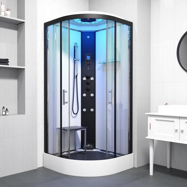 Insignia Monochrome quadrant steam shower cabin