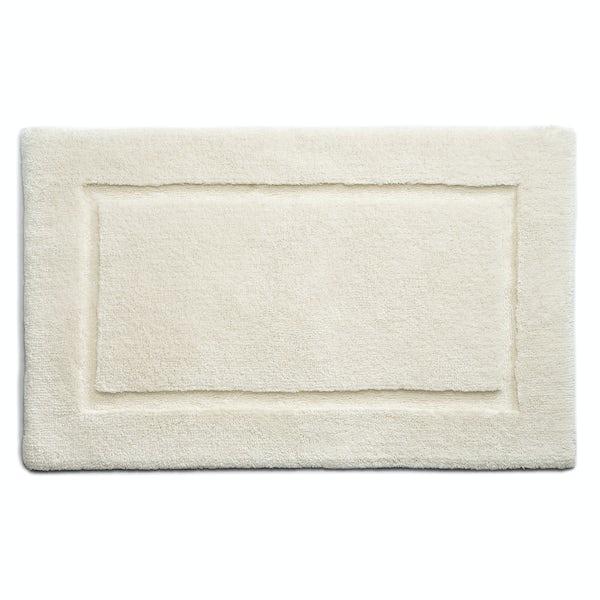 Hug Rug luxury bamboo border cream bathroom mat 50 x 80cm
