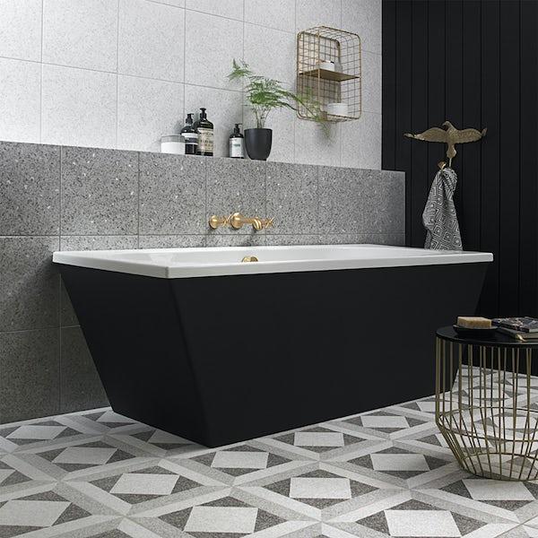 British Ceramic Tile Conglomerate white satin floor tile 331mm x 331mm