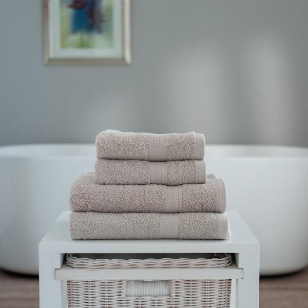Deyongs Kingston 450gsm 4 piece towel bale pebble