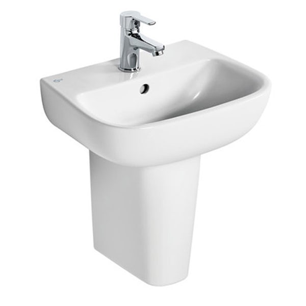 Ideal Standard Studio Echo 1 tap hole semi pedestal basin 450mm