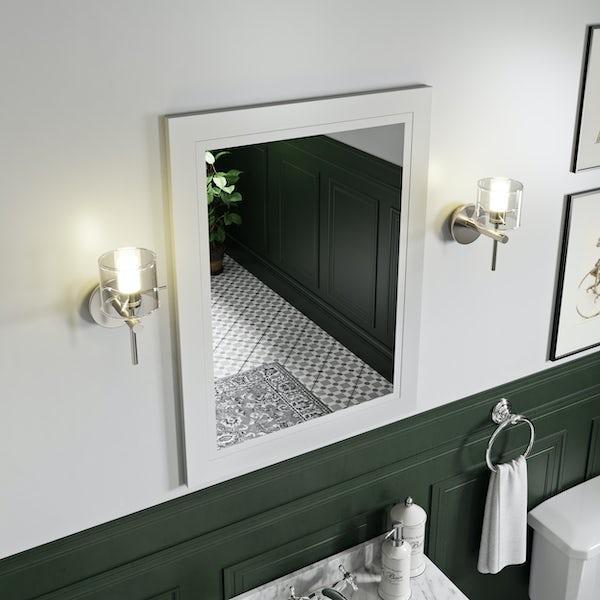 The Bath Co. Burghley matt white bathroom mirror 600 x 800mm