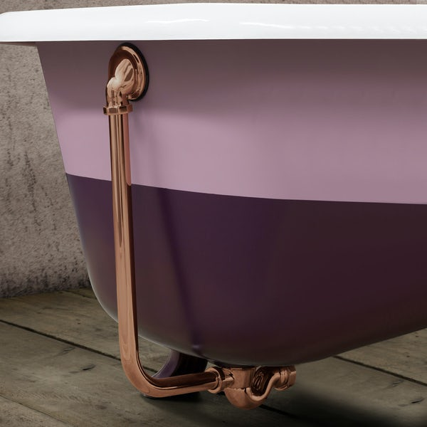 Traditoinal bath waste in copper finish