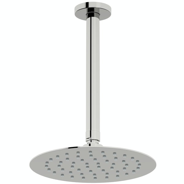 Mode Slim round stainless steel 200mm shower head and ceiling arm