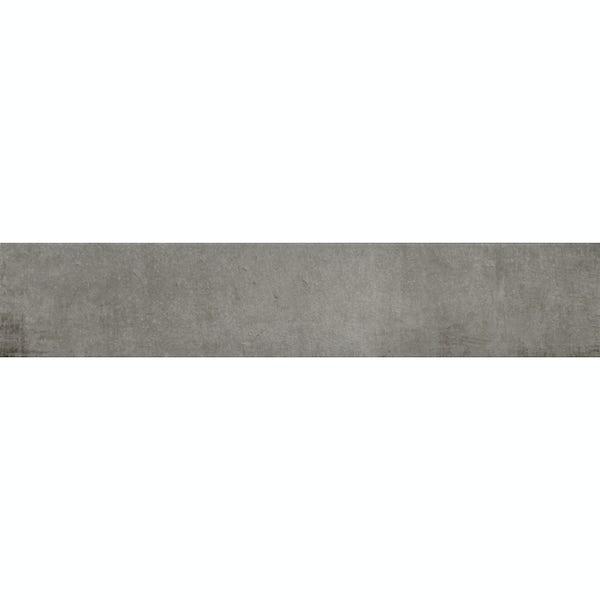 Granada grey traditional matt wall and floor tile 75mm x 385mm