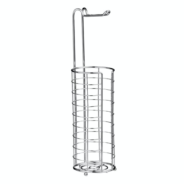Chrome large wire toilet roll holder and storage