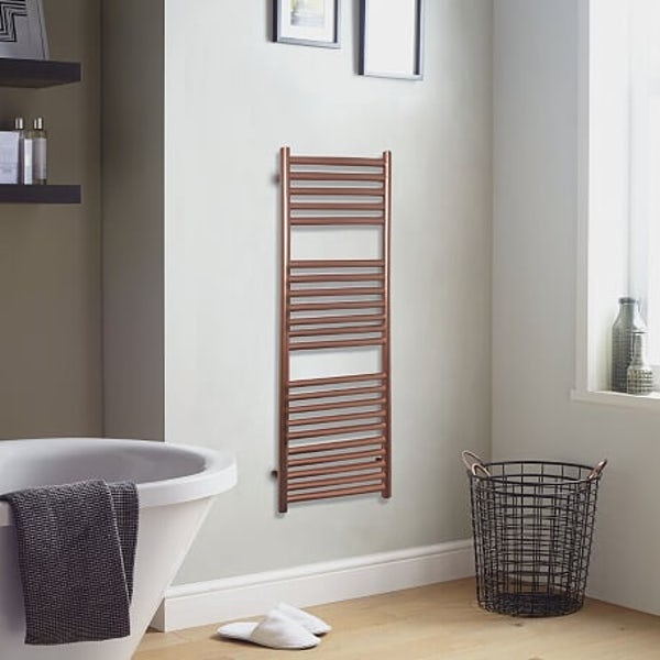 The Heating Co. Mali rose gold heated towel rail