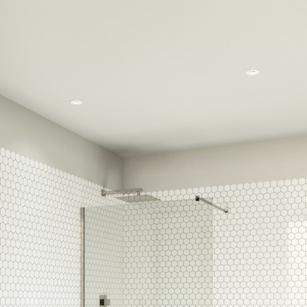 Forum IP65 fire rated cool white shower light in white