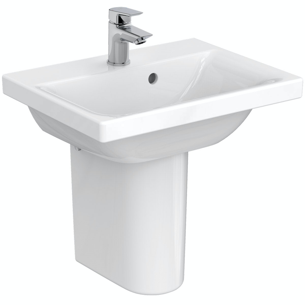 Ideal Standard Concept Space 1 tap hole semi pedestal basin 500mm