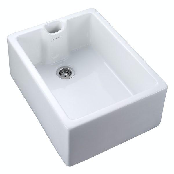 Rangemaster Classic Belfast 1 bowl ceramic kitchen sink