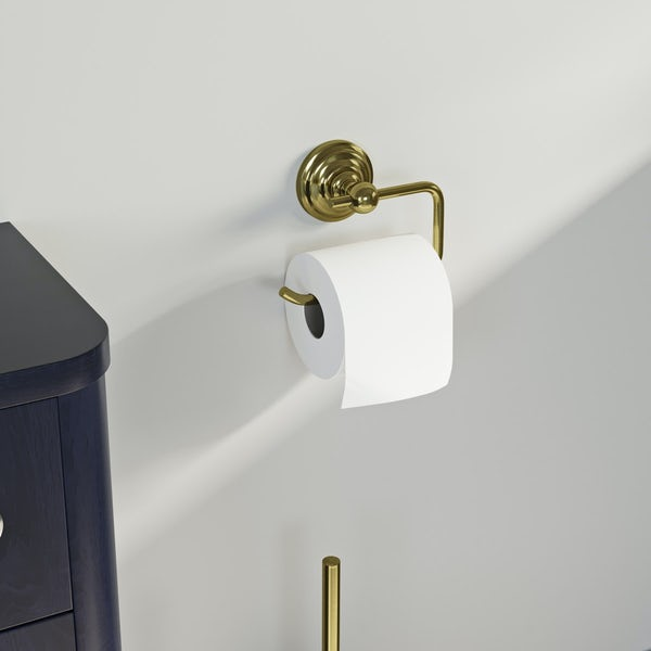 The Bath Co. 1805 gold toilet roll holder