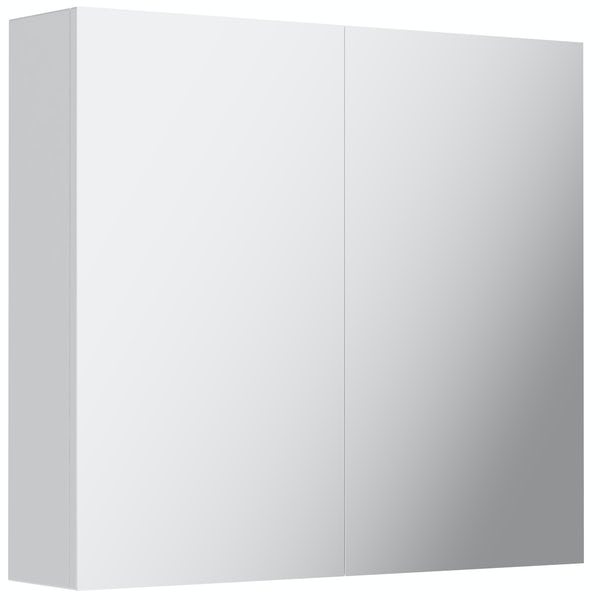 Mode Cortona white 2 door mirror cabinet