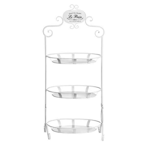 Accents Le bain 3 tier wire cream oval storage shelves