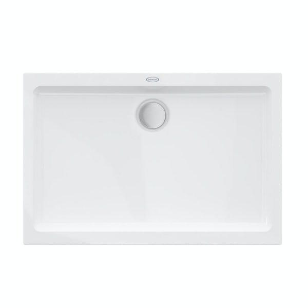 Jacuzzi the Essentials matt white acrylic shower tray 1400 x 800
