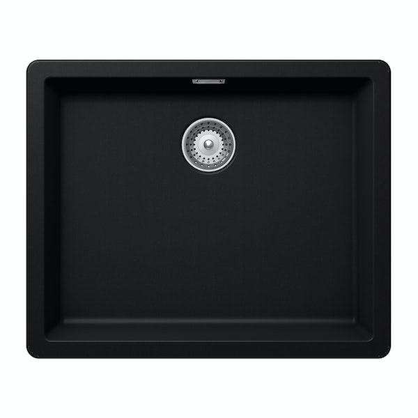 Rangemaster Schock Greenwich 1.0 bowl granite inset puro black kitchen sink