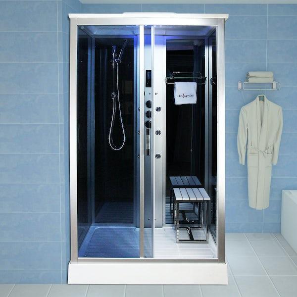 Insignia rectangular steam shower cabin 1100 x 890