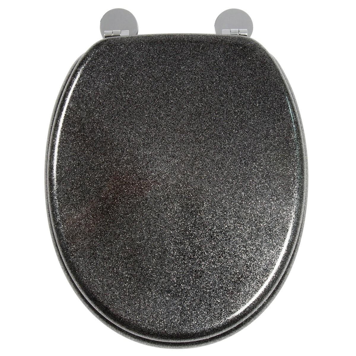 Croydex Black Quartz Flexi Fix Toilet Seat Victoriaplum Com