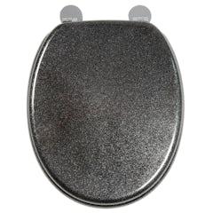 Main image for Croydex Black quartz flexi fix antibacterial toilet seat