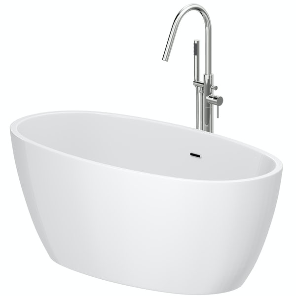 Mode Heath freestanding bath & tap pack with Heath bath filler